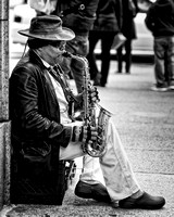 Saxophonist near Art Institute